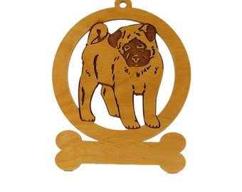 Akita Puppy Ornament 081180 Personalized With Your Dog's Name