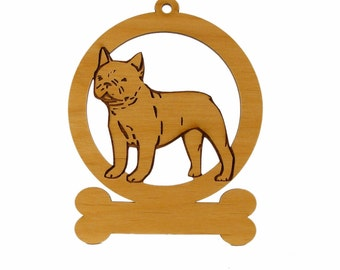 French Bulldog Standing Ornament 083201 Personalized With Your Dog's Name