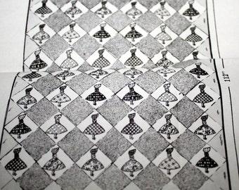 "Vintage quilt Laura Wheeler Design 860, Old Fashion Girl applique Quilt Pattern,84"" x 112"""