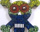 Mosaic Skull Art Wall Decor, Handmade Mosaic Skull Wall Hanging, Day of the Dead Wall Hanging, Dia de los Muertos Mosaic Art