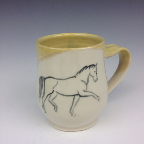 Horse Mug- Sunshine Yellow
