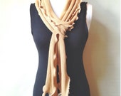 Unisex long skinny scarf // 100% bamboo sweater knit // READY TO SHIP