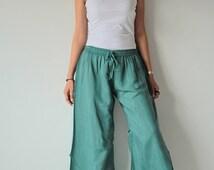 Tulip pants...mix silk...M,L,XL Long pant/ casual /Boho / Urban /stylish(125)