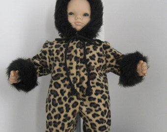 Doll Clothes-Made for BITTY BABY and Bitty Twins DOLLS Clothes Leopard Print Polar Fleece Fur Trimmed Snowsuit