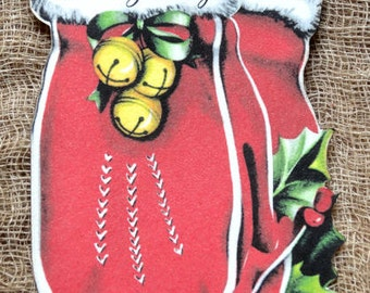 Warm Greetings Mitten Christmas Gift Tags #226