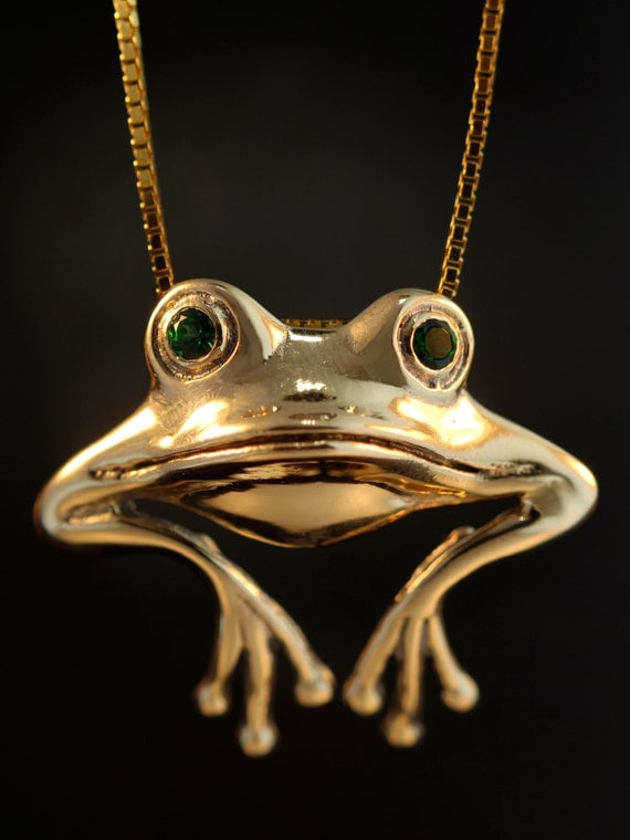 Items Similar To Frog Necklace Frog Jewelry Gold Good