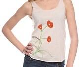 Poppies Print Women's Tri-blend tank top