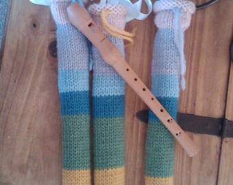 WALDORF Knitted Wool Flute Recorder Bag Waldorf Homeschooling Waldorf Education