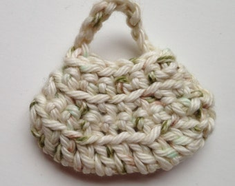 Handmade Barbie Clothes Purse Handbag Crochet Earth Tones (Q1920)