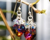 Volcano Swarovski Crystal Heart Earrings