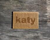 Custom Name Tag Knitting Bamboo Personalized