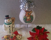 Rudolph the Red Nosed Reindeer keepsake lightbulb ornament