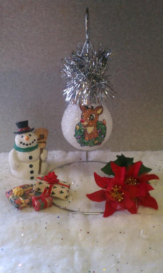 Rudolph the Red Nosed Reindeer keepsake lightbulb ornament