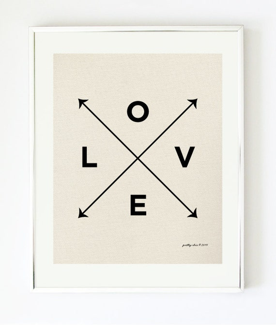 Love X Type Print - Nautical Love Print by Pretty Chic - Wall Art - Arrows