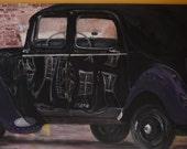 Art Vintage Car large Painting  Art Large Stmt Pc Retro No Frame Great Gift   Commissions Taken