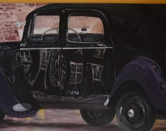 Art Vintage Car large Painting  Art Large Stmt Pc Retro No Frame Great Gift   Commissions Taken