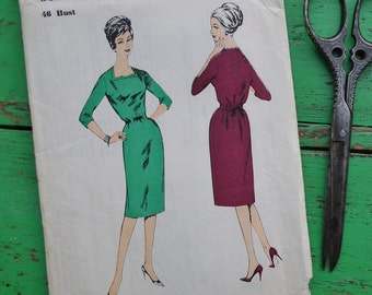 "Vintage Sewing Pattern 50s 60s Womens Dress 46"" Bust Plus Size / UK Size 20 / US Size 16 Blackmore So-Easy 9397 UK 1950s 1960s dressmaking"