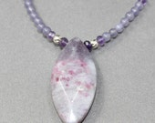Lepidolite Amethyst Beaded Necklace
