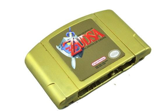 GOLD SOAP Nintendo N64 Cartridge, Zelda Ocarina of Time Parody, Zudsa Ocarina of Grime