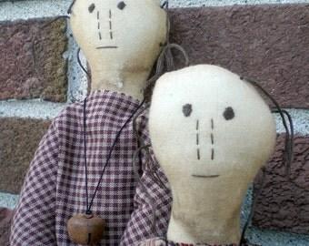 Primitive Folk Art Doll Jo Cee Farmhouse Shelf Sitter