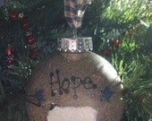 Primitive Sheep Hope Ornie Ornament Keepsake Shatterproof OFG FAAP CPLG HaFAIR Ab4B