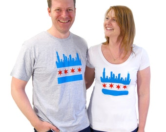 Chicago Skyline Adult T-shirt - Midwest Pride Collection