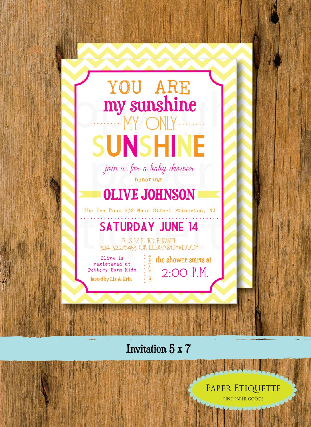 print your own you are my sunshine baby shower invitations
