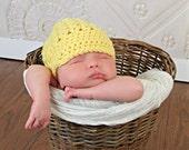Crochet Baby Hat, Yellow Baby Boy Hats, Crochet Girls Hat, Crochet Newsboy Hat, Newborn, MADE TO ORDER