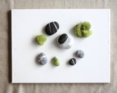 Hand felted Pebbles - Natural