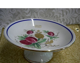 Antique Ironstone Compote - Circa 1881 - Mayer Ironstone Cake Plate   -  REDUCed
