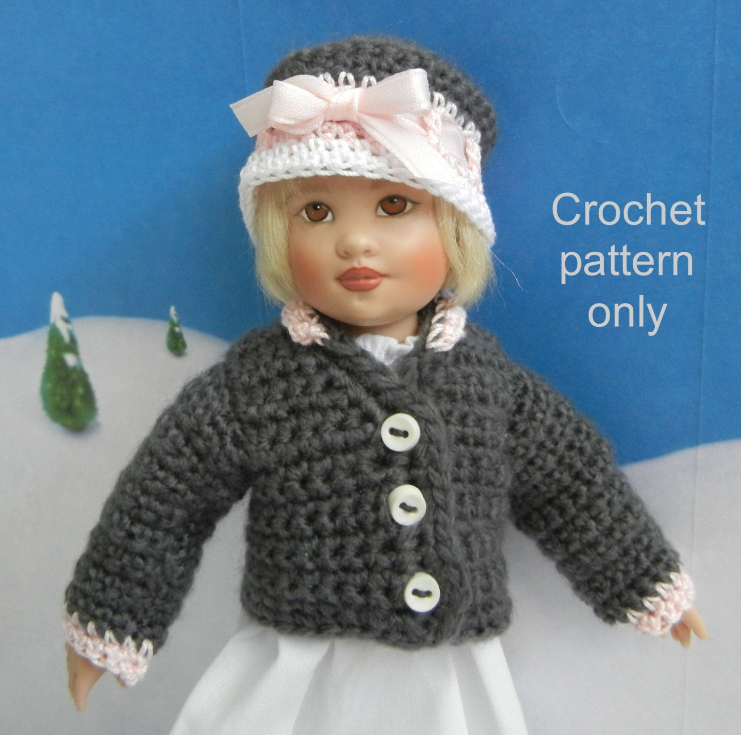 Crochet Doll Pattern Easy : Crochet pattern PDF for 7-8 inch child doll quick & easy