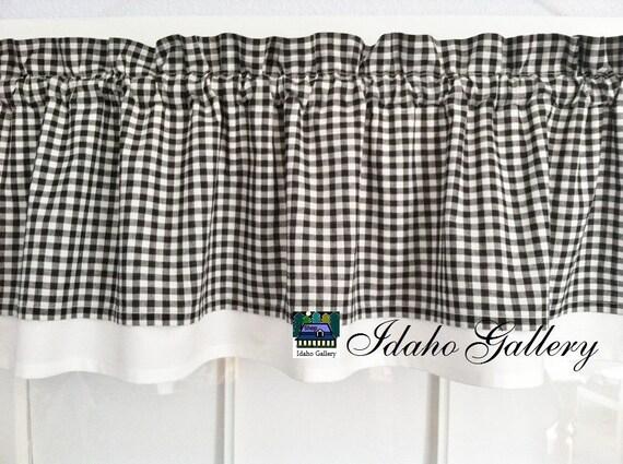 Black And White Gingham Curtains Black White Gingham Check Window Curtains Black Gingham
