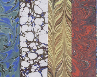 Ebru Samples - set of five - 7x7