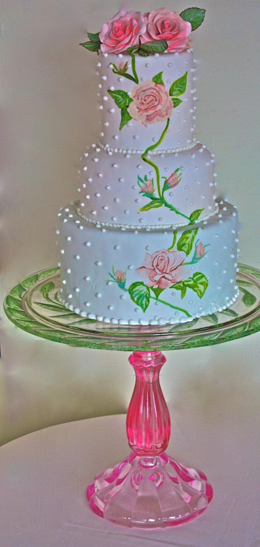 wedding cake stand huge vintage cake stand large cake