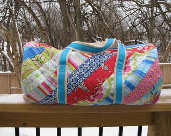 The Brooksider: A Quilted Duffel Bag *Instant Digital Download*  duffle pattern carry all weekender overnight sleepover