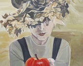 "Halloween witch- original acrylic painting- ""Hello my Pretty"""