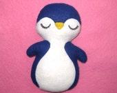 Penguin Plush - Paulie The Penguin - Penguin Plushie - Animal Plush - Nursery Decor - Blue Penguin