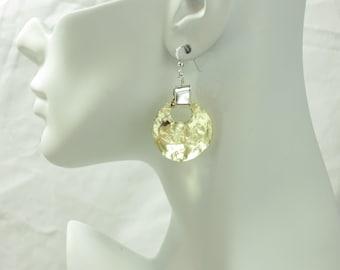 Gold earrings, modern earrings, boho earrings, bohemian jewelry, Mixed metals, Champagne Collection