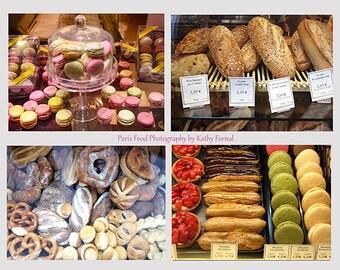 Paris Food Photography, French Bakery Photos, Paris Kitchen Wall Prints, Paris Food Wall Art, Paris Food Patisserie Prints, Paris Note Cards