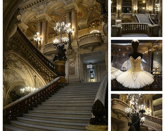 Paris Photography, Opera House Print Set, Paris Opera Garnier Grand Staircase, Paris Opera Ballet Prints, Paris Opera House Wall Art Prints