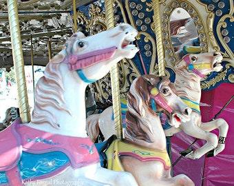 Carousel Horses Print, Merry Go Round Horses Print, Carousel Carnival Horses, Baby Girl Nursery Decor, Kids Room Carousel Horses Wall Prints