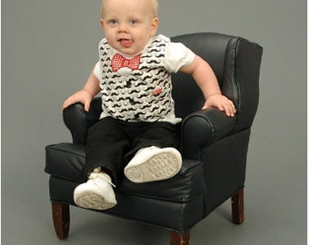 SEW DAPPER Appliquéd Vest or Suspenders with Assorted Ties PDF Pattern Sizes Newborn-5