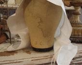 SALE Antique Religious Linen Nun's Cap from Belgium AS-IS