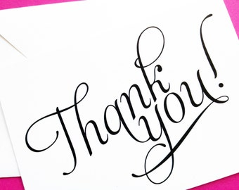 Scripted Thank You Cards - Thank You Card - Thank You Notes - Note Card Thank You