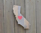 California Cutout Reclaimed Wood MADE TO ORDER