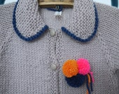 Girls Sweater - NEW -  size 2 - natural wool