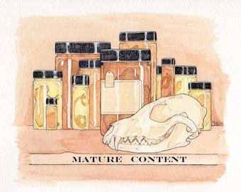Wet Preserved Stillborn Domestic Rabbit Specimen- Jarred Specimen- Mature- Lot No. PINK-D