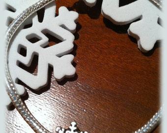 Stunning Silver Snowflake Charm Bracelet by Lauri Jon Studio City