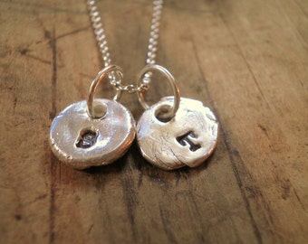 Custom Tiny Silver Initial Necklace