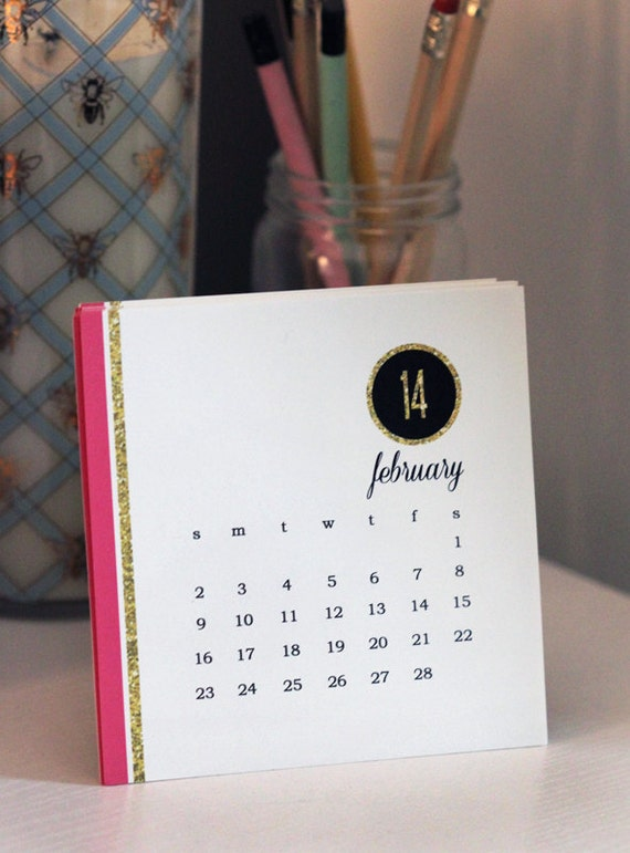 Touch of Glitter 2014 Desk Calendar